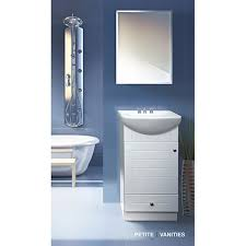 petite bathroom vanity. Fine Fixtures Petite 18-inch Wood White Bathroom Vanity