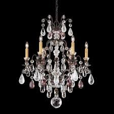 renaissance rock crystal 7 light 110v chandelier in antique silver with olivine and smoke topaz clea