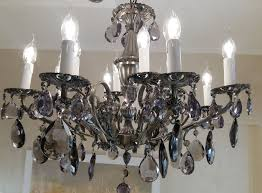vintage exclusive original maria theresa chandelier bohemian crystal structure of bronze 12