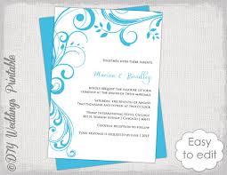 Wedding Invitation Template Printable Invitations