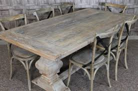 rustic dining table and chairs. Distressed Dining Table And Plus Room Chairs Triangle Rustic