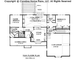 Small Ranch Style House Plan SG  Sq Ft   Affordable Small Home    SG  Main Floor Plan