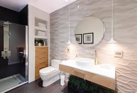 or vanity is placed and cover it using 3 d tiles by doing this you will get a focal point that will give your room some sense of structure and depth