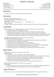 Sample Resume For College Student