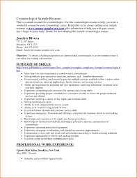 Resume For Cosmetology Sample Resume For Cosmetologist Petitingoutpolyco 16