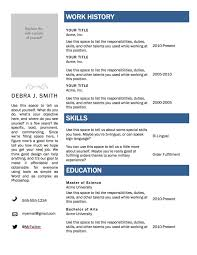 Template One Page Resume Templates Template Word Bes Good Resume