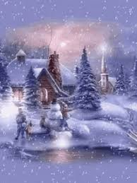 Animated Christmas Snow Scenes Gifs Tenor