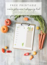 Free Weekly Meal Planner With Grocery List Free Printable Weekly Menu And Shopping List