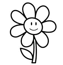 Flower Coloring Pages For Girls Easy Flower Coloring Pages Flower