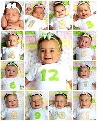 Cute 12 Month Photo Growth Chart Idea For Babys First Year