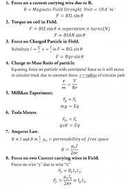 43 physics formula sheet for circular motion