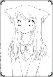 Anime Girl Coloring Pages Page Boy Girls