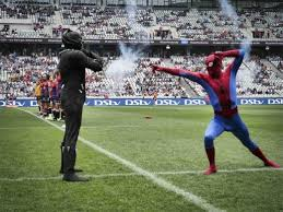 black panther and spiderman on superherosunday photo kreative mind ions