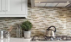 Kitchen  Splashback Tiles Glass Mosaic Tile White Kitchen Backsplas