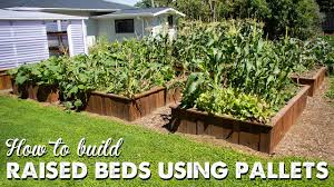 garden beds. how to build raised beds using pallets | a thousand words garden