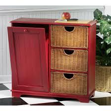 Kitchen Cabinet Garbage Can Storage Surprising Red Kitchen Cabinet With Double Kitchen Garbage