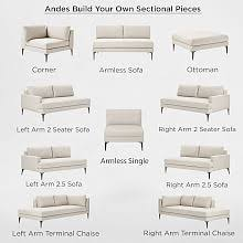 Image Storage Build Your Own Andes Sectional Pieces West Elm Build Your Own Sectional Sofa West Elm