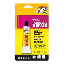Super Glue 0.5 fl. oz. White Porcelain Repair-19061-6 - The Home Depot