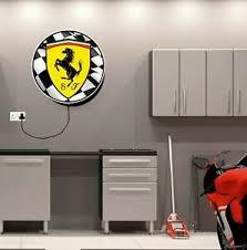 Ferrari led illuminated light up garage sign petrol gas oil automobilia scuderia. Light Box Ferrari Shield Car Logo Sign Badge Birthday Gift Man Cave Garage 458