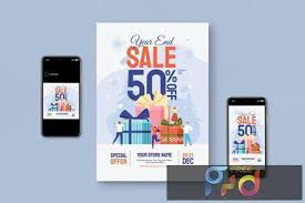 Graphicriver 2013 happy new year flyer template. Year End Sale Flyer Set Bc8dy9y Freepsdvn