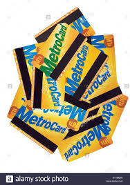 Mta Metrocard Design A Pile Of Used Nyc Subway Mta Metrocards Stock Photo