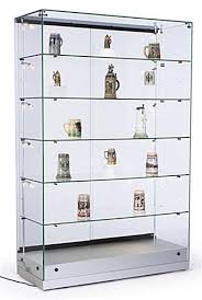 glass display shelf with regard to cases vertical lighting adjule silver ideas