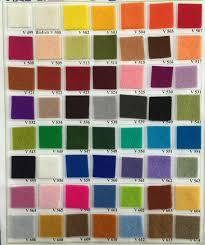 Wool Felt Colour Chart 100 Pure New Wool Felt