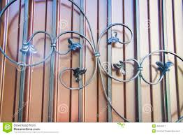 luxury wrought iron fence detail