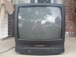tv vcr combo. philips cca192at31 19 tv vhs player vcr combo crt gaming color television works