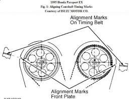1995 honda passport timing engine mechanical problem 1995 honda here are the diagrams