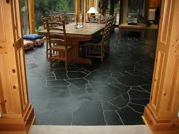 Natural Stone Kitchen Flooring Slate Tile Kitchen Floor Gray Kitchen Cabinets Waplag Wood