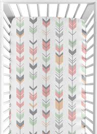 sweet jojo designs fitted crib sheet