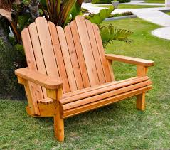 custom adirondack redwood loveseat chair made in u s a