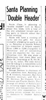 Ed Clement on Santa Planning Escanaba Daily Press 12/7/1956 - Newspapers.com