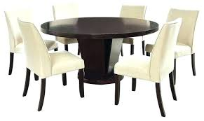 espresso dining table and chairs espresso round dining table espresso finish round 7 piece dining table