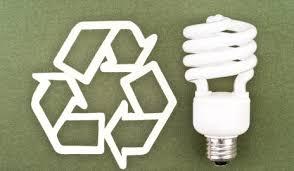 recycling symbol and energysaving bulb recycle light bulbs77 light