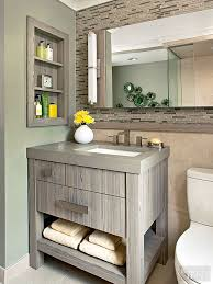 Small vanity for a small bathroom.