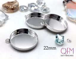4pcs silver bezel cup sterling silver setting 22mm jewelry base silver pendant basis silver charm setting cabochon base jbb findings from qfmarket on