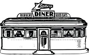 Template 50s Diner Menu Template At Restaurant Coloring Pages Com
