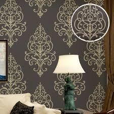 Nieuwe 3d Reliëf Textuur Grote Damast Behang Roll Goud Bruin Vintage