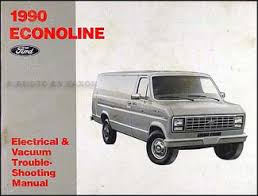 1990 ford econoline foldout wiring diagram van e150 e250 e350 club 1990 ford econoline van and club wagon electrical troubleshooting manual