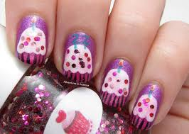 Happy Birthday, Caitlin! Cupcake Nail Art! - Adventures In Acetone