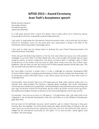 Acceptance Speech Example Template Stunning Award Acceptance Speech Template Ideas Entry Level Resume 1