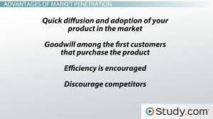 Market penetration strategy example