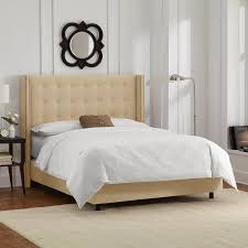 tufted bedroom furniture. Amazon.com: Skyline Furniture Nail Button Tufted Wingback Queen Bed In Velvet Buckwheat: Kitchen \u0026 Dining Bedroom D