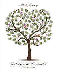 32 Best Baby Shower Images On Pinterest  Guest Books Guest Book Fingerprint Baby Shower Tree