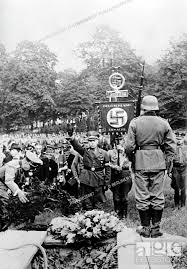 The Nazi propaganda picture shows Gauleiter of Danzig Albert Forster (C)  giving a speech during the..., Stock Photo, Picture And Rights Managed  Image. Pic. PAH-49635887   agefotostock
