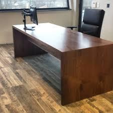 Image Office Furniture Custom Office Desk Waterfall Legs Woodrich Pa Custom Office Desk Waterfall Legs Woodrich Pa