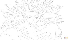 Goku From Dragon Ball Z Coloring Page Free Printable Pages New