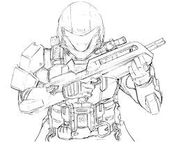 Small Picture halo 5 video game coloring page halo reach coloring pages eassume